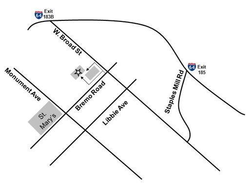 Map of Richmond VA Chiropractor